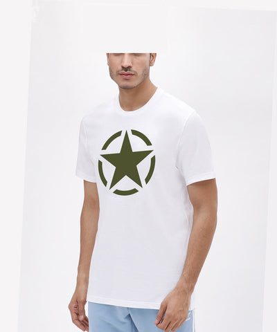 White Color Cotton Mens Tshirt - Halfwhite-639