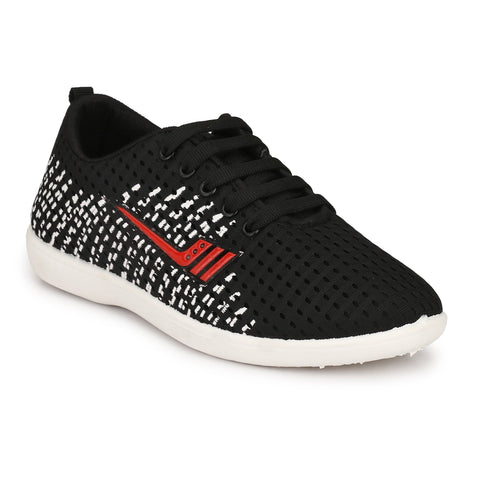 Black Color Synthetic Men Shoes - HockeyT-BlackRed