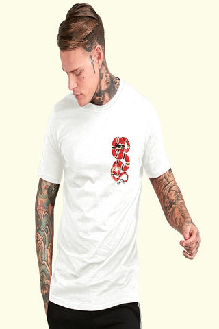 White Color Cotton Mens Tshirt - ICG-EI-068