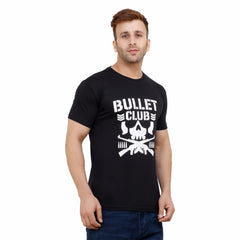 Black Color Cotton Mens Tshirt - BC-H01