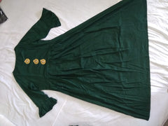 Dark Green Color Rayon Stitched Kurti - krish104