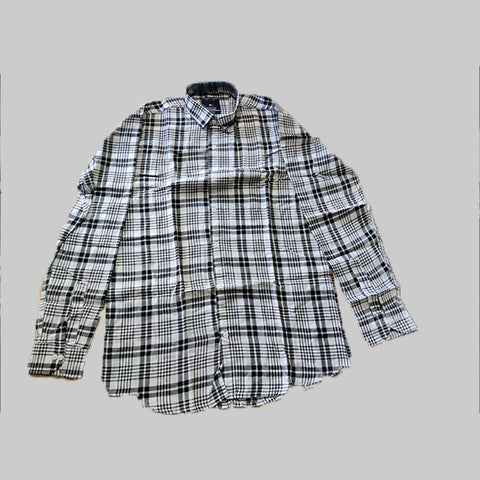 Black Color Premium Cotton Men's Checkered Shirt - KG-161019-TH-CH-4