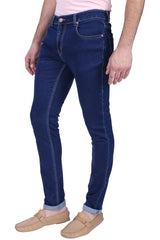 Blue Color Cotton Lycra Mens Jeans - SPJN112