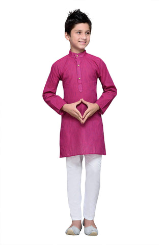Purple  Color Cotton Kurta Pyjama - IP103