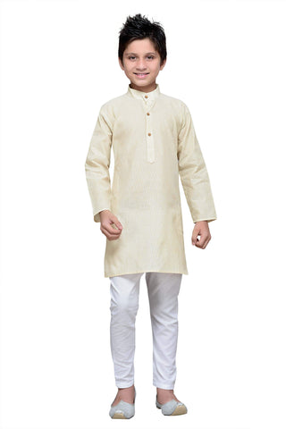 Cream Color Cotton Kurta Pyjama - IP107