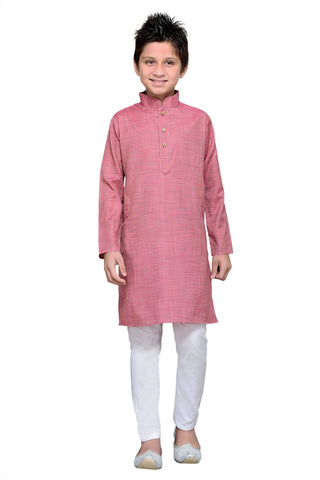 Purple  Color Cotton Kurta Pyjama - IP110