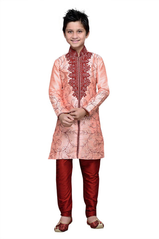 Pink Color Art Silk Kurta Pyjama - IP118