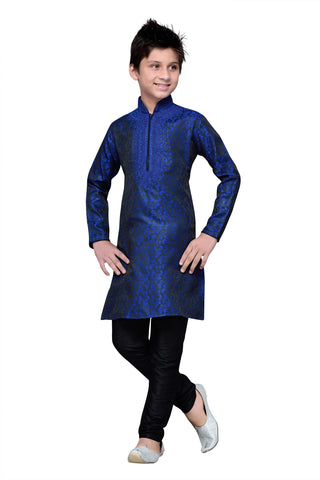 Royal Blue Color Brocade Kurta pyjama - IP133
