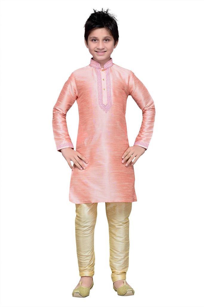 Pink Color Art Silk Kurta Pyjama