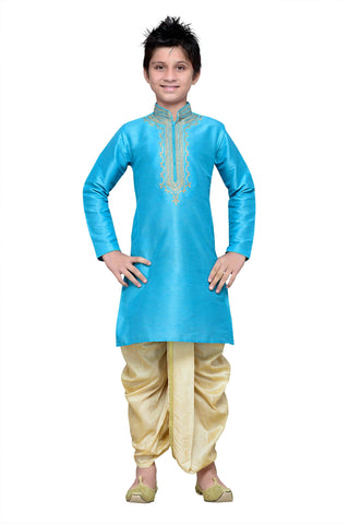 Firoji Color Art Silk Kurta Pyjama - IP149
