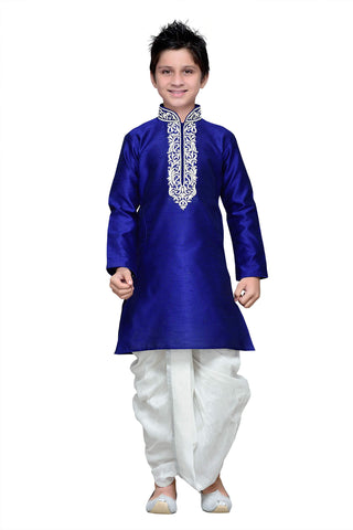 Royal Blue Color Art Silk Kurta Pyjama - IP157