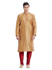 Brown Color Silk Blend Kurta Pyjama