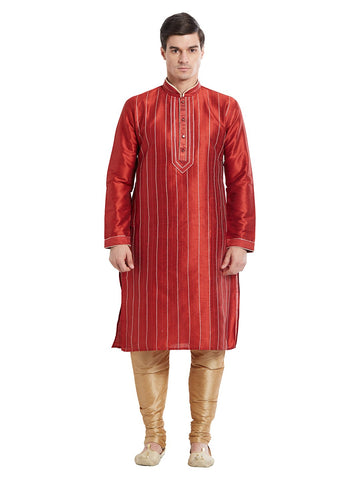 Maroon Color Silk Blend Kurta Pyjama - IP1702