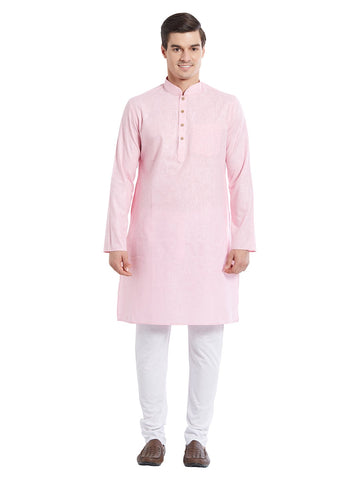 Pink Color Pure Cotton Kurta Pyjama - IP1717