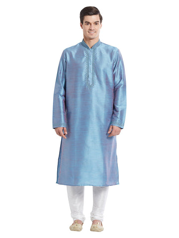 Green Color Silk Blend Kurta Pyjama - IP1722
