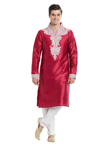 Pink Color Silk Blend Kurta Pyjama - IP1727