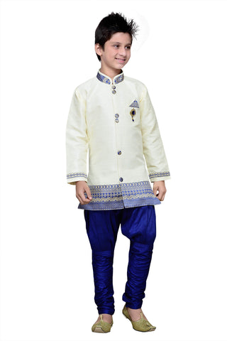 White Color Art Silk Kurta Pyjama - IP172