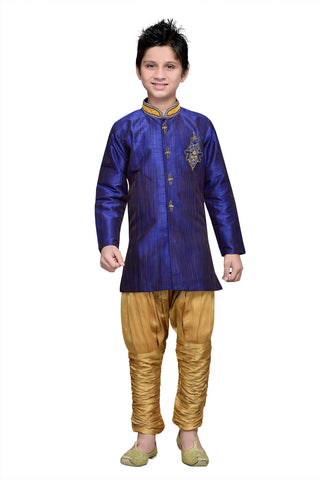 Royal Blue Color Art Silk Kurta Pyjama - IP175