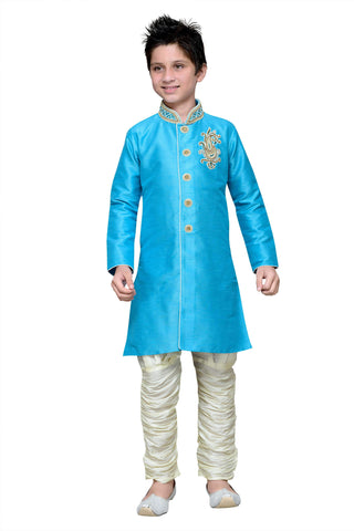 Firoji Color Art Silk Kurta Pyjama - IP184