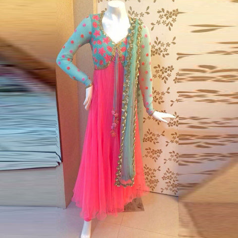 Pink Color Soft Mono Net Salwar - IV-10