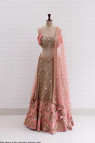 Congo Pink Color Mulberry  Lehenga - IV-13