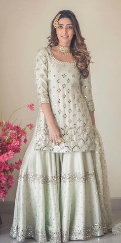 White Color Naylon Silk Salwar - IV-18