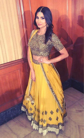 Yellow Color Georgette Lehenga - IV-23