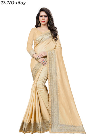 Cream Color Sana Silk Saree - Icon-1603