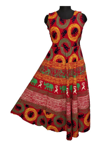 Multi Color pure Cotton Fast Color Stitched Gown  - JCF-1