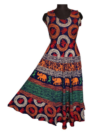 Multi Color pure Cotton Fast Color Stitched Gown  - JCF-4