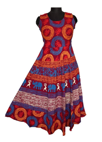 Multi Color pure Cotton Fast Color Stitched Gown  - JCF-5