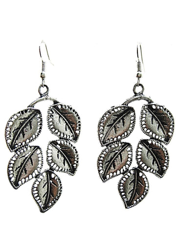 Antique Silver Color Oxidized Silver  Beads Earring  - JEZ6132B505