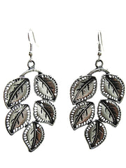Antique Silver Color Oxidized Silver  Beads Earring