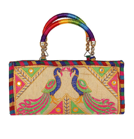 Multi Color Cotton Women's Handmade Clutch - JF-093356