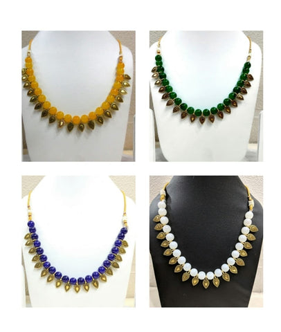 Pack of 4 - Multi Color Alloy Women's Necklace with Earrings - JF-300120-4SN-10