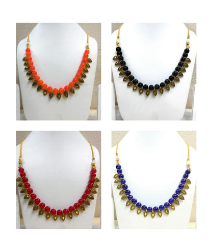 Pack of 4 - Multi Color Alloy Women's Necklace with Earrings - JF-300120-4SN-11