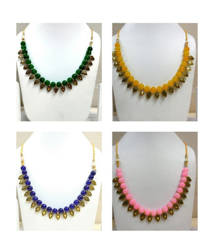 Pack of 4 - Multi Color Alloy Women's Necklace with Earrings - JF-300120-4SN-12