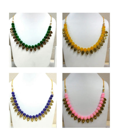 Pack of 4 - Multi Color Alloy Women's Necklace with Earrings - JF-300120-4SN-13