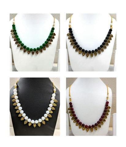 Pack of 4 - Multi Color Alloy Women's Necklace with Earrings - JF-300120-4SN-14