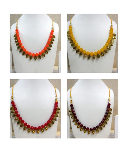 Pack of 4 - Multi Color Alloy Women's Necklace with Earrings - JF-300120-4SN-1