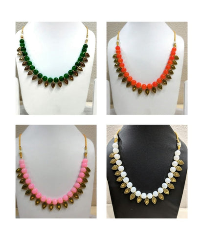Pack of 4 - Multi Color Alloy Women's Necklace with Earrings - JF-300120-4SN-2