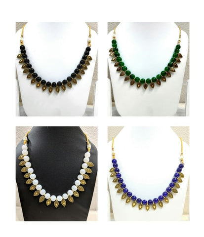 Pack of 4 - Multi Color Alloy Women's Necklace with Earrings - JF-300120-4SN-3