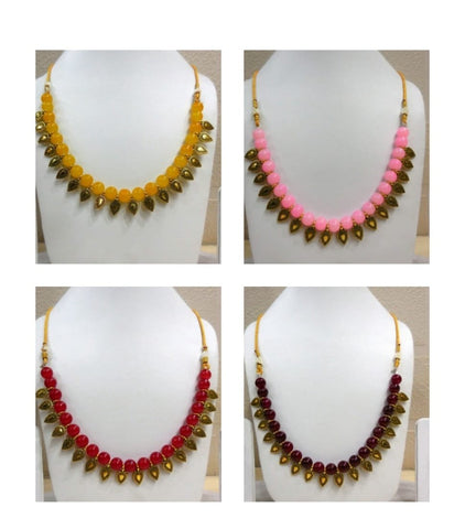 Pack of 4 - Multi Color Alloy Women's Necklace with Earrings - JF-300120-4SN-4