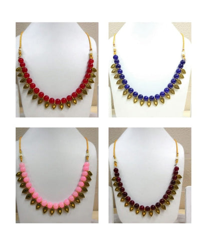 Pack of 4 - Multi Color Alloy Women's Necklace with Earrings - JF-300120-4SN-5