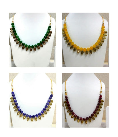 Pack of 4 - Multi Color Alloy Women's Necklace with Earrings - JF-300120-4SN-6