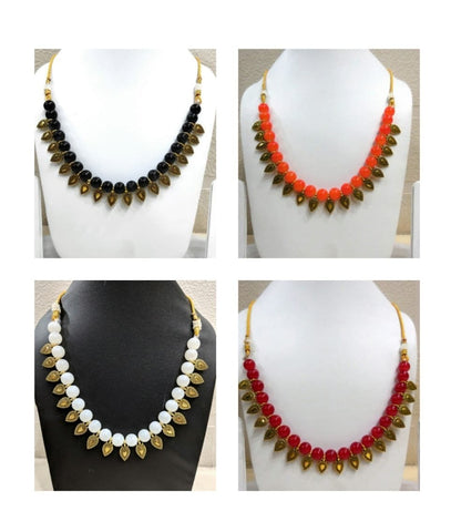 Pack of 4 - Multi Color Alloy Women's Necklace with Earrings - JF-300120-4SN-7