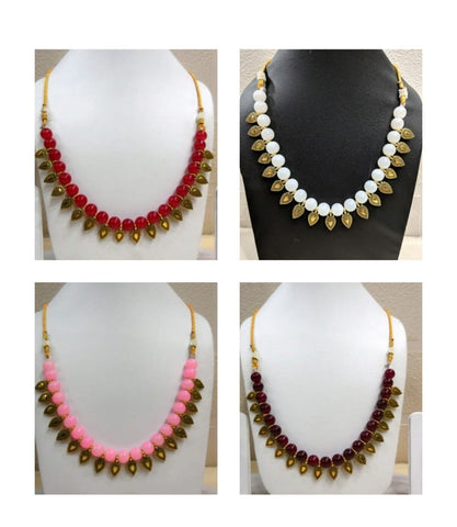Pack of 4 - Multi Color Alloy Women's Necklace with Earrings - JF-300120-4SN-8