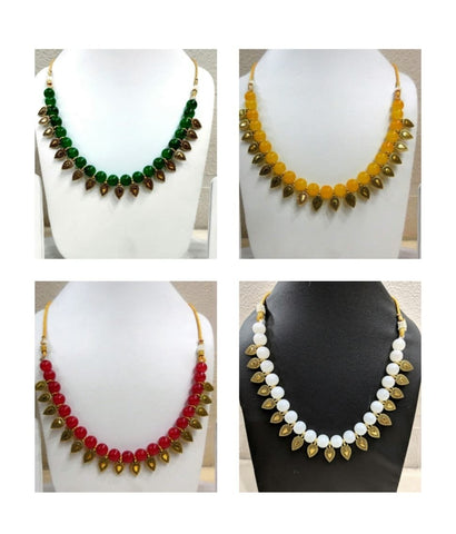Pack of 4 - Multi Color Alloy Women's Necklace with Earrings - JF-300120-4SN-9