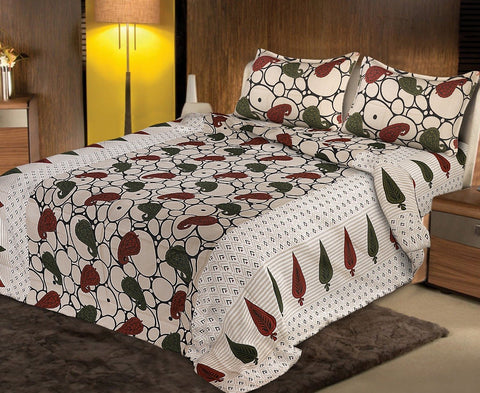 Multi Color pure Rozi cotton  Stitched Bedsheet  - JF-JCB-6