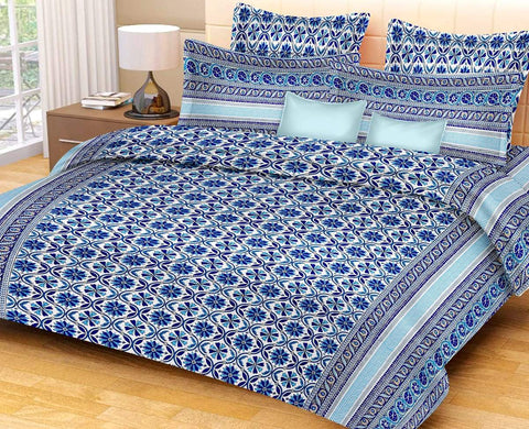 Multi Color pure Rozi cotton  Stitched Bedsheet  - JF-JCB-9